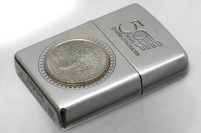 Zippo ジッポー 絶版・1999年製造 記念コイン 50 QUARTERS COIN COLLECTION CONNECTICUT