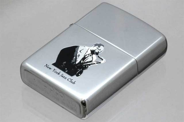Zippo ジッポー 絶版・2000年製造 NEW YORK JAZZ CLUB SAX