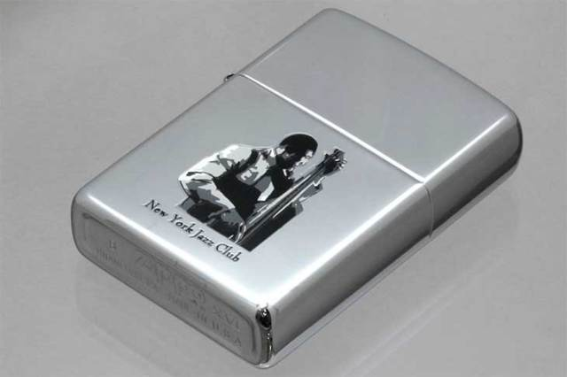 Zippo ジッポー 絶版・2000年製造 NEW YORK JAZZ CLUB BASE メール便可