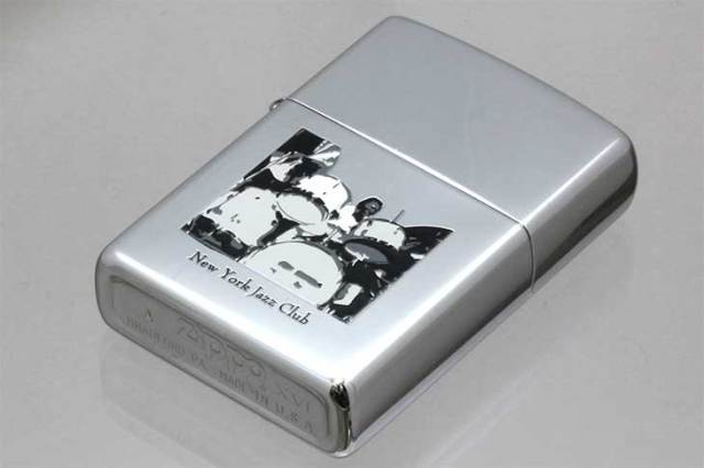 Zippo ジッポー 絶版・2000年製造 NEW YORK JAZZ CLUB DRUM