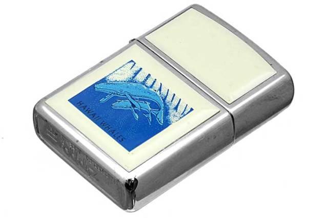 Zippo ジッポー 絶版・1996年製造 HAWAI WHALES メール便可