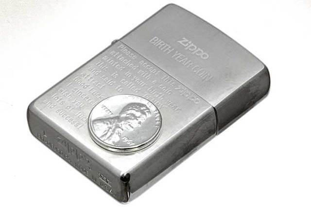 Zippo ジッポー 絶版・1999年製造 BIRTH YEAR COIN 1967年コイン