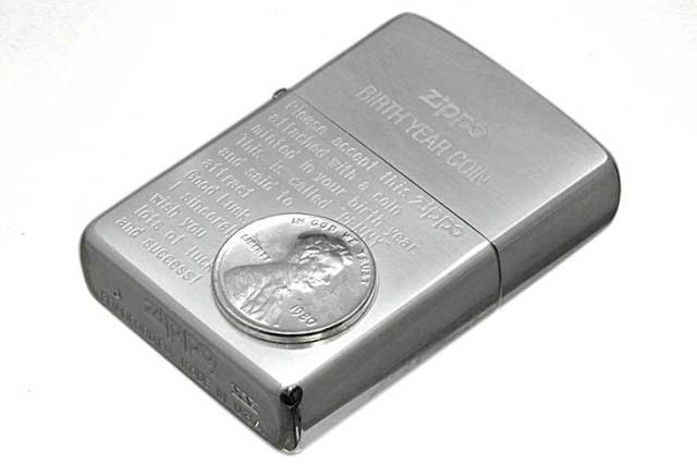 Zippo ジッポー 絶版・1999年製造 BIRTH YEAR COIN 1980年コイン