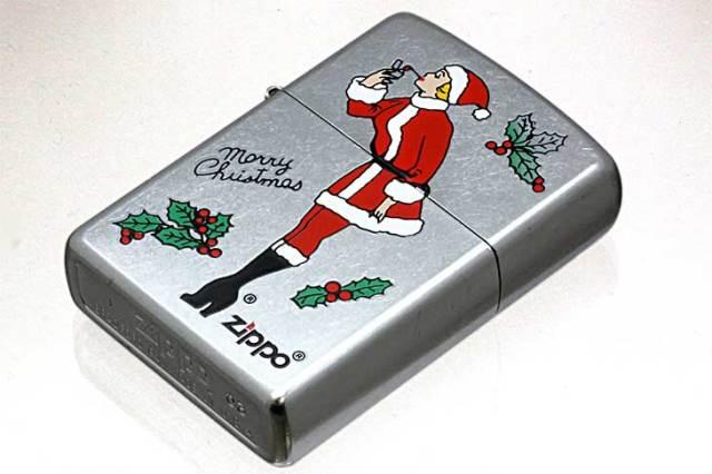 Zippo ジッポー 絶版・2003年製造 Xmas WINDY SANTA No.207 Street Chrome
