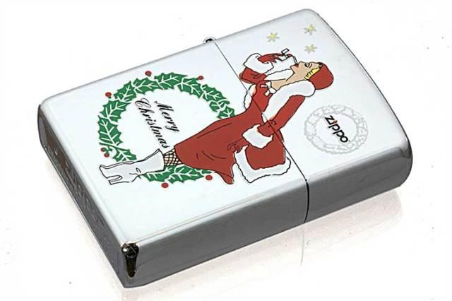 Zippo ジッポー 絶版・2004年製造 Xmas WINDY SANTA レッド