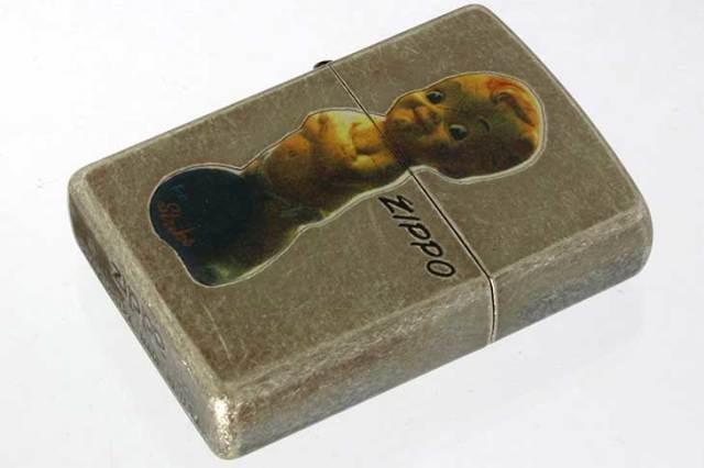 Zippo ジッポー 絶版・1997年製造 オールドデザイン バレル キューピー ボーリング メール便可