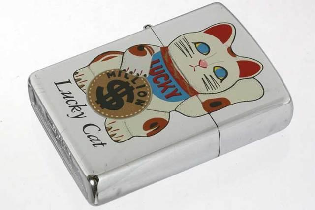 Zippo ジッポー 絶版・1993年製造 Lucky Cat 招き猫 MILLON メール便可