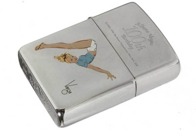 Zippo ジッポー 絶版・1996年製造 Windy Alberto Vargas Girl 100th Birthday B