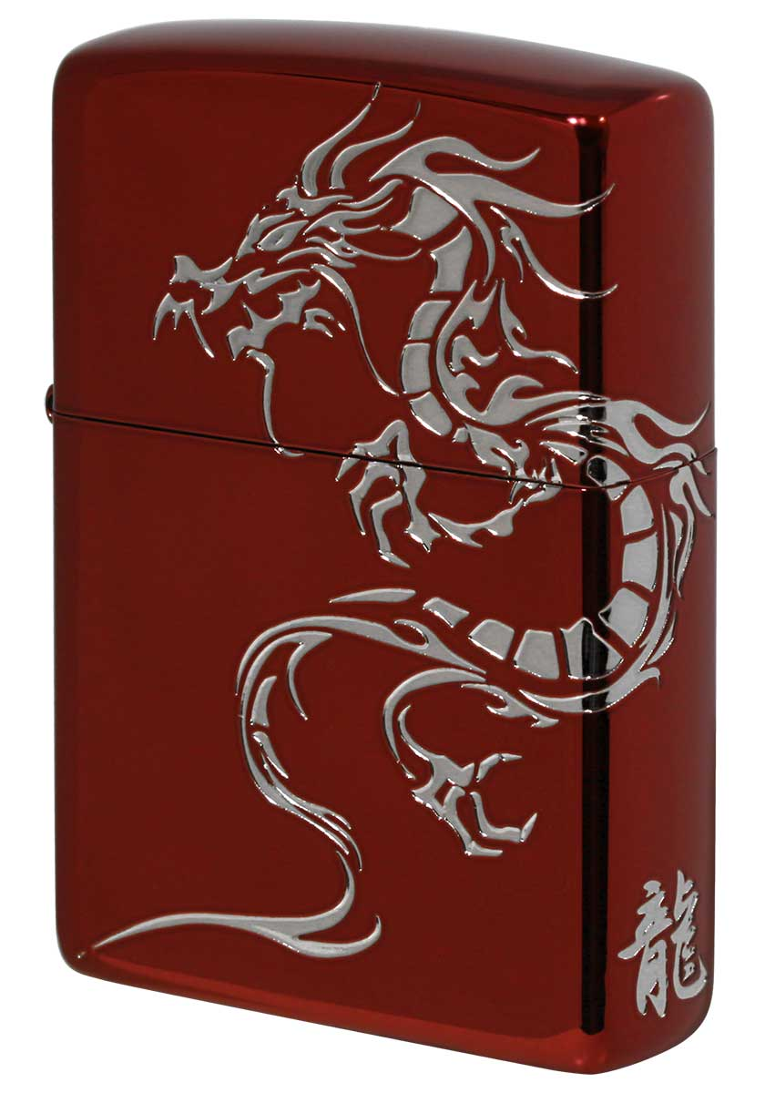 Zippo ジッポー Tiger & Dragon 2REDS-DR メール便可