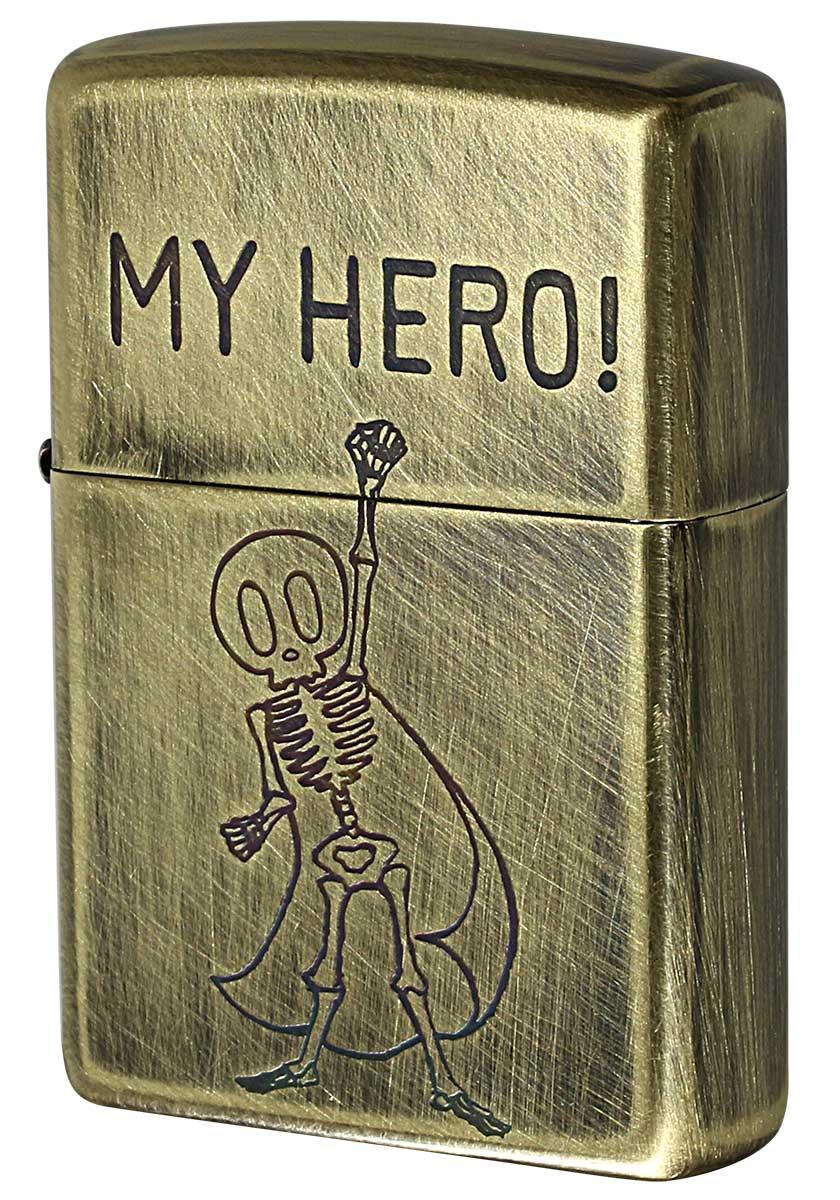 Zippo ジッポー USED FINISH SKULL 2UDB-MY HERO メール便可