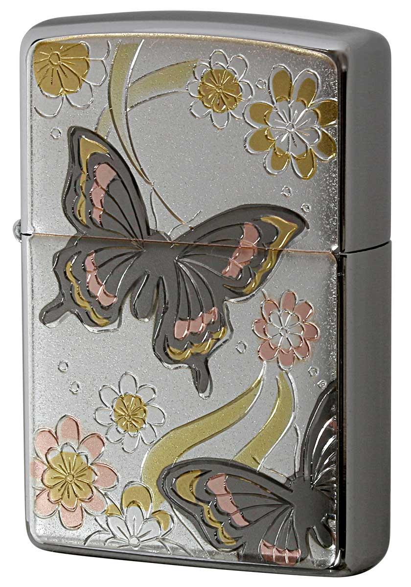 Zippo ジッポー 電鋳板 Electroforming 蝶 Butterfly メール便可