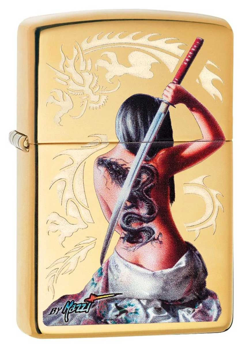 Zippo ジッポー Claudio Mazzi Women Sword Dragon 29668 メール便可