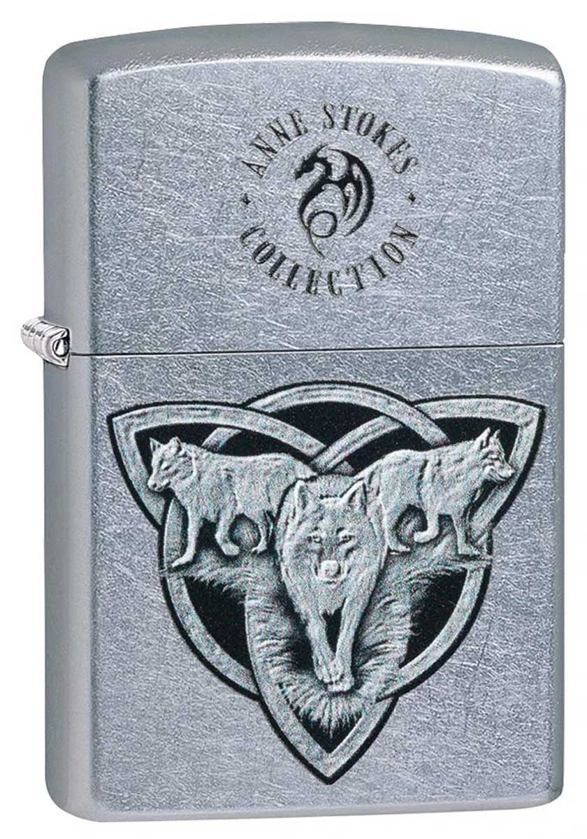 Zippo ジッポー Anne Stokes Wolf Pack Trinity Knot 49099 メール便可