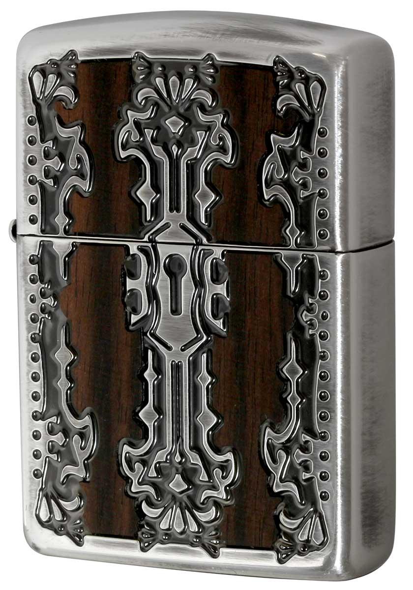 Zippo ジッポー Keyhole Wood Inlay キーホールウッドインレイ SV 2-51b 銀 メール便可