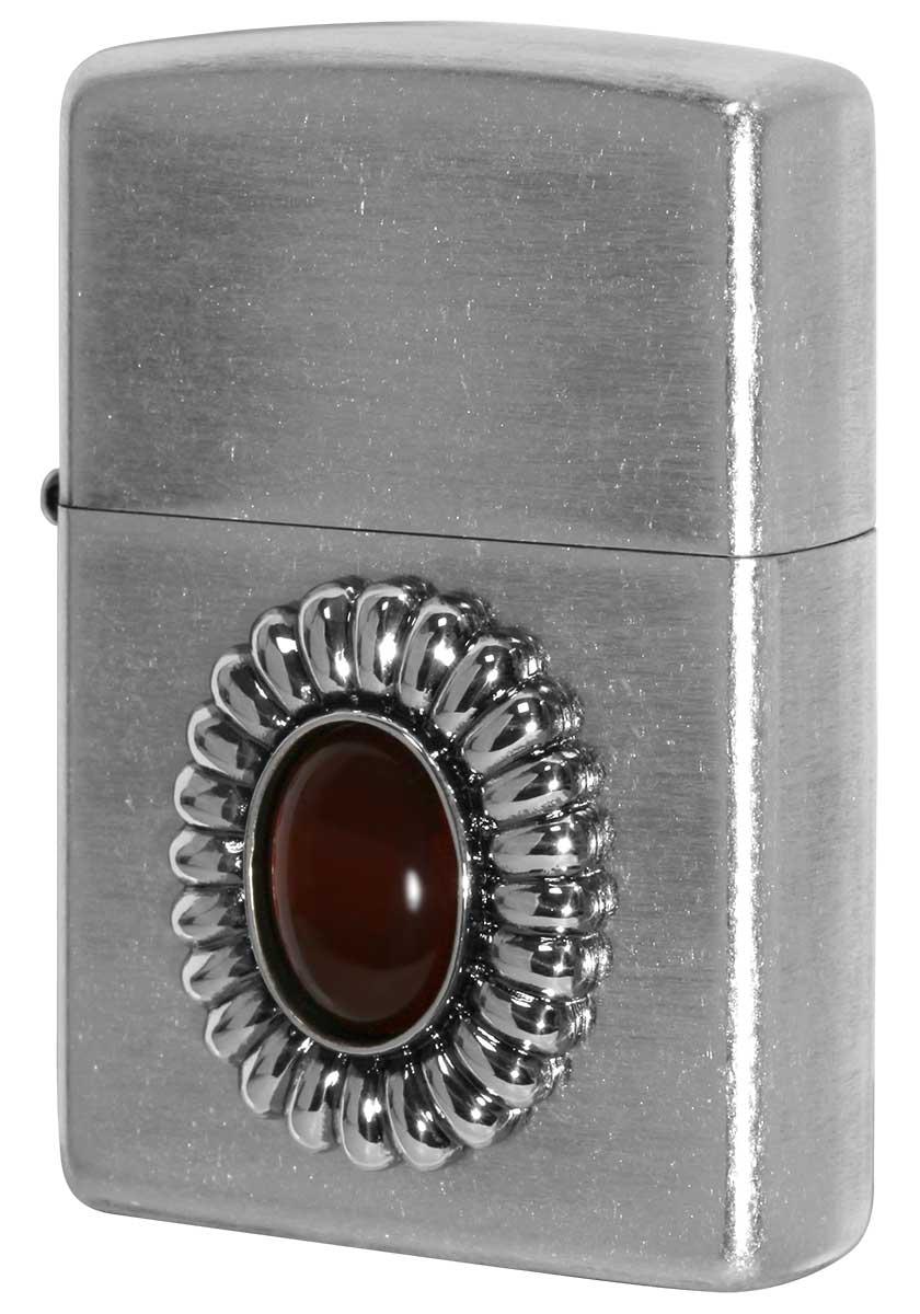 Zippo ジッポー Power Stone パワーストーン レッドアゲード 70640 メール便可