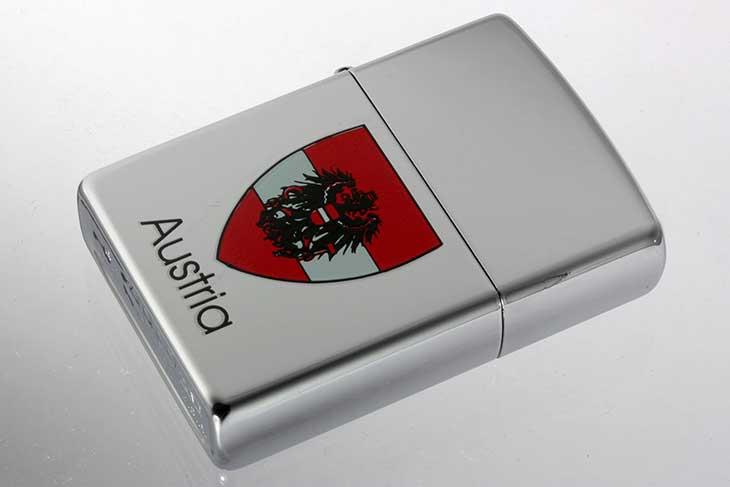 Zippo ジッポー 絶版・2000年製造 Austria オーストリア 国章 メール便可