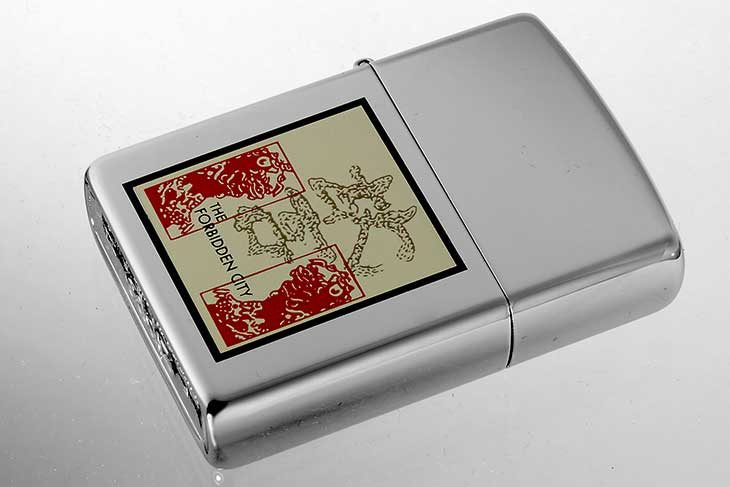 Zippo ジッポー 絶版・1995年製造 THE FORBIDDEN CITY 紫禁城 故宮 獅子(狛犬) メール便可