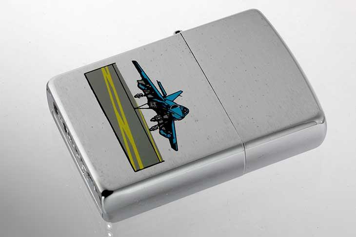 Zippo ジッポー 絶版・1996年製造 戦闘機ランディング メール便可