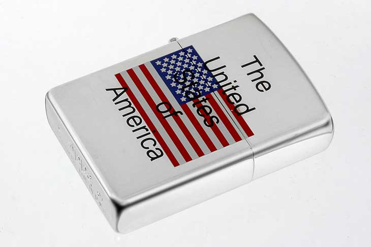Zippo ジッポー 絶版・2001年製造 アメリカ国旗 The United of America メール便可