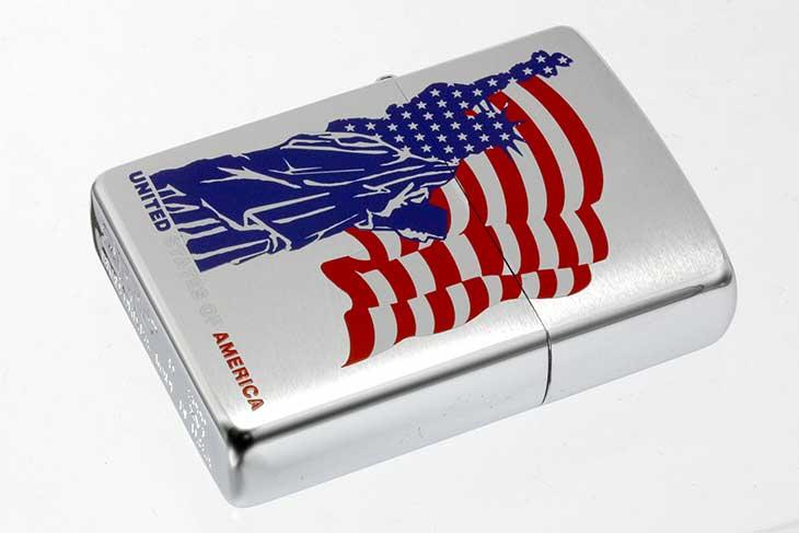 Zippo ジッポー 絶版・2000年製造 自由の女神 アメリカ国旗柄 メール便可