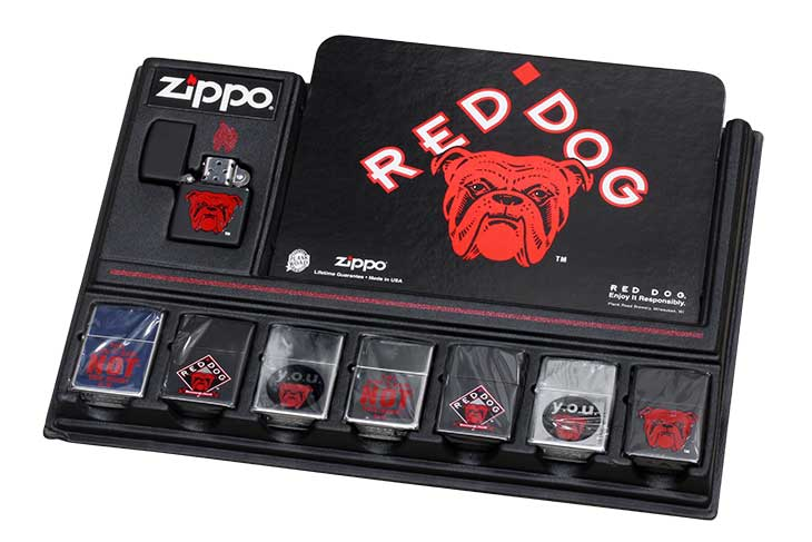 Zippo ジッポー 絶版・1997年製造 PLANK ROAD OFFICIAL LICENSEE Red Dog Beer レッドドックビール 7個セット