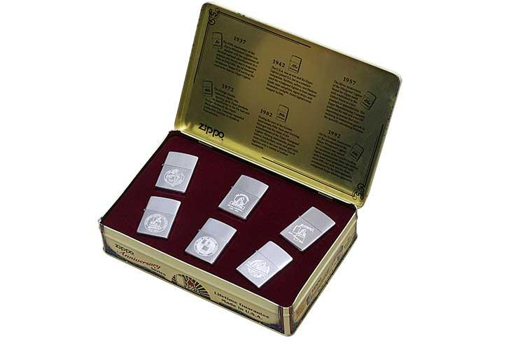Zippo ジッポー 絶版・1996年製造 1932-1992 Anniversary Series 60th Collectors' Edition 創業60周年記念セット 6個セット