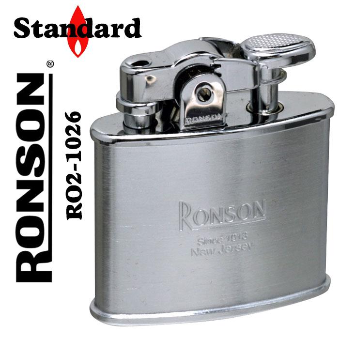 ロンソン ライター スタンダード オイルライター R02-0026 クロームサテン画像