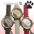 腕時計 レディース ねこ 猫 catmint キャットミント ネコ柄 ブランド キャット デザイン ウォッチ画像