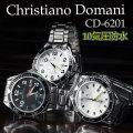 送料無料 Christiano Domani クリスチャーノ・ドマーニ 腕時計 メンズ ダイバーズウォッチ 10気圧防水 CD-6201画像