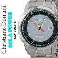 メンズ腕時計クリスチャンドマーニソーラーパワー10気圧防水CD-7301-1画像