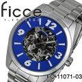 腕時計 メンズ 自動巻き ficce フィッチェ オートマチック腕時計 FC-11071-03 ブルー 画像