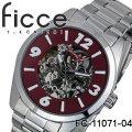 腕時計 メンズ 自動巻き ficce フィッチェ オートマチック腕時計 FC-11071-04 レッド画像