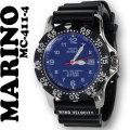マリノキャピターノ]MARINO capitano 腕時計 10気圧防水 逆回転防止ベゼル ブルー文字盤 MC 411-4 メンズ画像