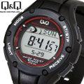 送料無料 シチズン時計Q&Q 電波ソーラー腕時計 ランニングウォッチ 10気圧防水 MHS6-300