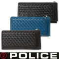 POLICE(ポリス)メンズ長財布 メッシュ 牛革 レザー PA-57002 三色画像