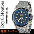 ロイヤルモントレスメンズ腕時計 ソーラー電波ウオッチ RM0010TG-BL画像
