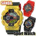 送料無料 腕時計 メンズ腕時計 スポーツウォッチ アナデジ SANDA SS-002 選べる三色画像