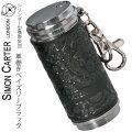 携帯灰皿 SIMON CARTER サイモンカーター 本革巻き アッシュシリンダー  ペイズリーブラック画像