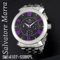 腕時計メンズ サルバトーレマーラ クロノグラフ 立体インデックス メタルバンドSM14107-SSBKPL画像