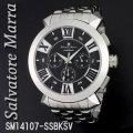 腕時計メンズ サルバトーレマーラ クロノグラフ 立体インデックス メタルバンドSM14107-SSBKSV画像