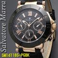 サルバトーレマーラ メンズ 腕時計 10気圧 多軸クォーツ 革ベルトPGBK画像