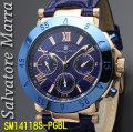 サルバトーレマーラ メンズ 腕時計 10気圧 多軸クォーツ 革ベルトPGBL画像