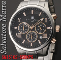 腕時計メンズ サルバトーレマーラ クロノグラフ ステンレススチールベルト 10気圧防水 SM15102-SSBKPG画像