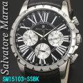 サルバトーレマーラ メンズ 腕時計 10気圧 マルチファンクションSSBK画像