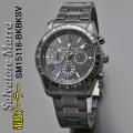 サルバトーレマーラメンズ電波ソーラー腕時計SM15116-BKBKSV画像