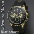 腕時計メンズ サルバトーレマーラ クロノグラフ ラバーベルト SM17112-GDBK画像