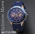 腕時計メンズ サルバトーレマーラ クロノグラフ ラバーベルト SM17112-PGBL画像