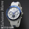 腕時計メンズ サルバトーレマーラ クロノグラフ ラバーベルトSM17112-SSWH画像