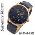 サルバトーレマーラ メンズ 腕時計 革ベルトSM19105-PGBL画像