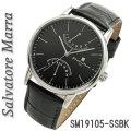 サルバトーレマーラ メンズ 腕時計 革ベルトSM19105-SSBK画像